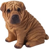 Chinese Shar-Pei Dog Figurine by Sandicast