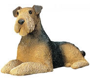 Airedale Terrier Dog Statue by Sandicast