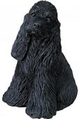 Cocker Spaniel Dog Figurine- Black