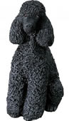 Black Poodle Dog Figurine