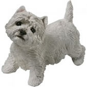 West Highland Terrier Dog Statue, Standing