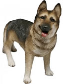 German Shepherd Dog Figurine by Sandicast