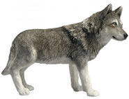 Standing Wolf Figurine by Sandicast