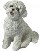 Bichon Frise Dog Figurine by Sandicast