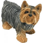 Yorkshire Terrier Dog Figurine by Sandicast