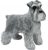 Gray Schnauzer Dog Figurine by Sandicast