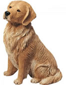 Golden Retriever Dog Statue by Sandicast