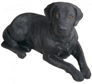 Black Labrador Retriever Dog Statue