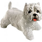 West Highland Terrier Dog Statue by Sandicast
