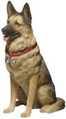 Life Size German Shepherd Dog Statue by Sandicast