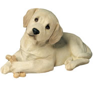Labrador Puppy Dog Statue- Lying /Yellow