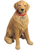 Life Size Golden Retriever Dog Statue