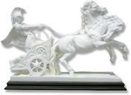 Roman Chariot Marble Statue- Small