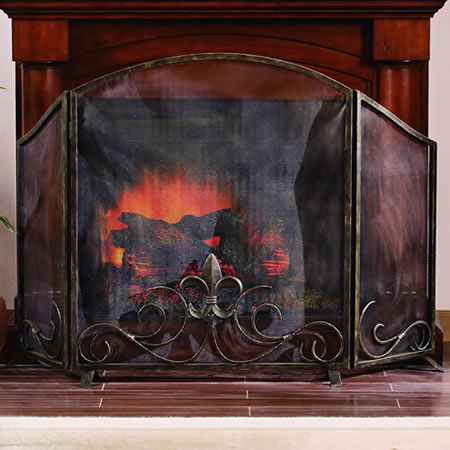 Fleur De Lis Fireplace Screen Spi San Pacific International All Products 31735