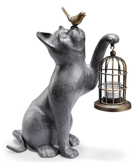 Night of Discovery Cat/Bird Garden Lantern