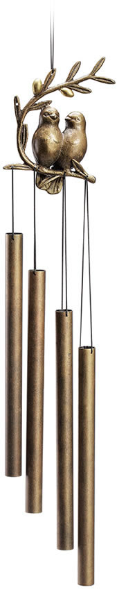 Bird Pair Tube Wind Chime