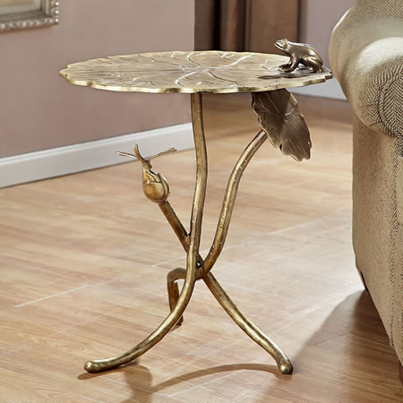 Frog and Dragonfly End Table
