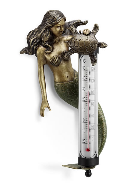 Mermaid Wall Mounted Thermometer