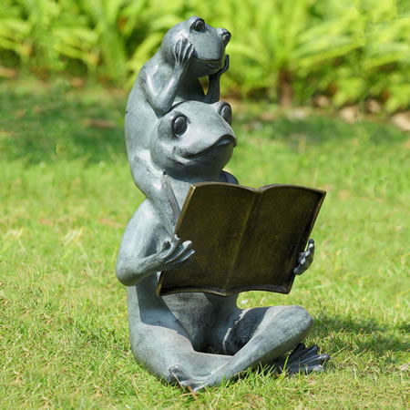 Eager Readers Frog Garden Sculpture