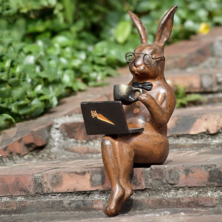 Coffee Break Garden Bunny Ledge Sitter