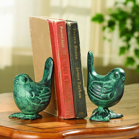 Bird on Branch Bookends Pair