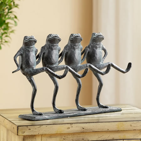 Dancing Frogs Parade Statue