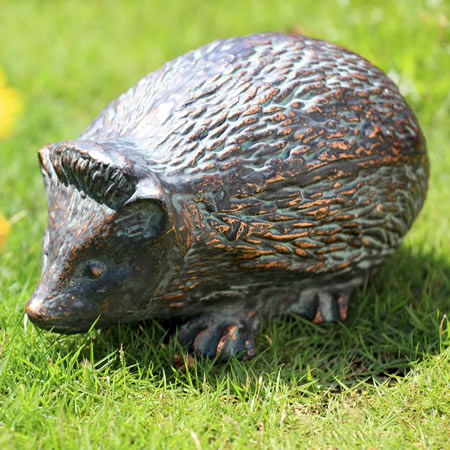 Timid Hedgehog Garden Sculpture