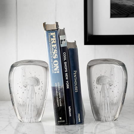 Jellyfish Wedge Bookends (Glow in the Dark)