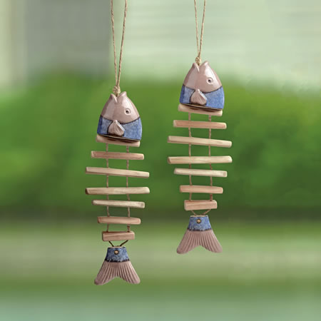 Ceramic Fish Mobiles Set of 2