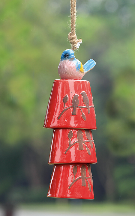 Bluebird Ceramic Windchime