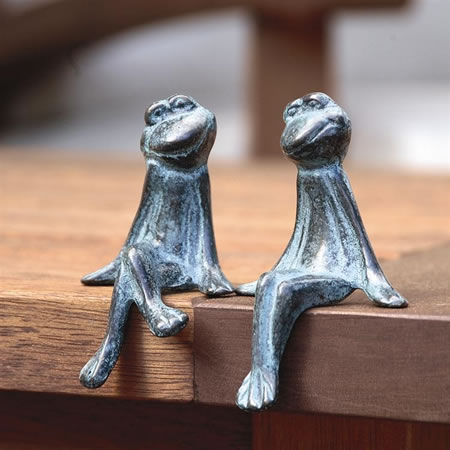 Courting Frogs Pair- Shelf Sitters