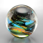 Blue Mosaic Sphere/Paperweight