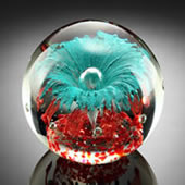 Teal Explosion Sphere/Paperweight