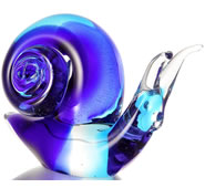 Art Glass Snail Figurine