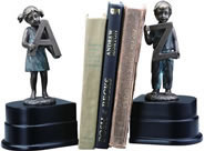 "Girl and Boy ""A to Z"" Bookends Pair"