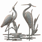 Double Heron Wall Plaque
