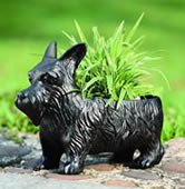 Scottie Dog Planter Box