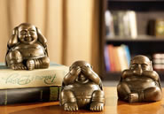 Wise Buddha Minimals Mini Figurines, Set of 3