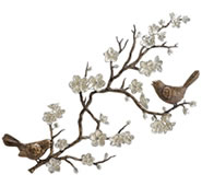 Birds & Cherry Blossom Wall Plaque