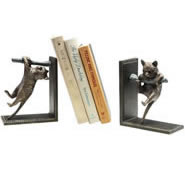Climbing Cat on Branch Bookends Pair