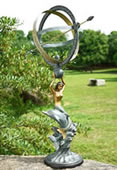 Mermaid & Dolphin Armillary