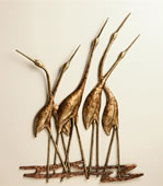 Crane Quintet Wall Plaque