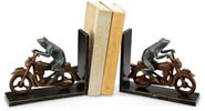 Biker Frog Bookends