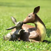 Best Friends (Deer and Rabbit) Garden Statue