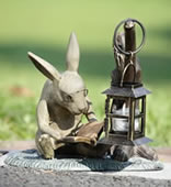 Booklover Rabbit Garden Lantern