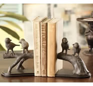 Bird Pair on Branch Bookends