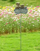 Owl Family Garden Welcome Sign