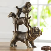Dog Trio Sculpture