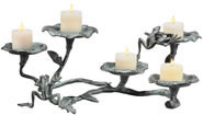 Frogs and Lily Pads Pillar Candelabra