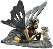 First Friend- Fairy/Bunny Rabbit Garden Sculpture